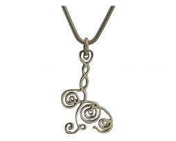 BGCQ pendant 5 in sterling silver