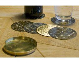 Turath set of 6 Coasters Gold toe